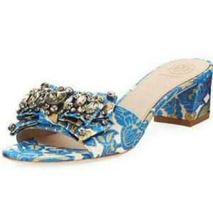 Tory Burch Valentina Embellished Sandals